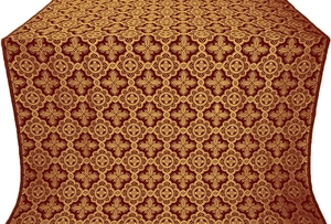 Old-Greek metallic brocade (claret/gold)