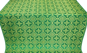 Old-Greek metallic brocade (green/gold)