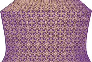 Old-Greek metallic brocade (violet/gold)