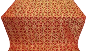 Old-Greek metallic brocade (red/gold)