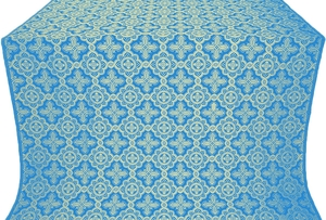 Old-Greek silk (rayon brocade) (blue/gold)
