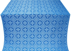 Old-Greek silk (rayon brocade) (blue/silver)