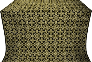 Old-Greek silk (rayon brocade) (black/gold)