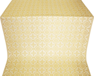 Old-Greek silk (rayon brocade) (white/gold)