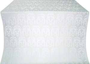 Vinograd metallic brocade (white/silver)