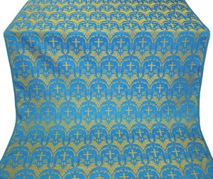 Vinograd silk (rayon brocade) (blue/gold)