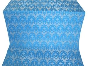 Vinograd silk (rayon brocade) (blue/silver)