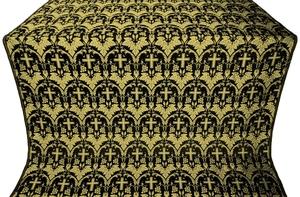 Vinograd silk (rayon brocade) (black/gold)