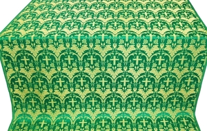 Vinograd silk (rayon brocade) (green/gold)