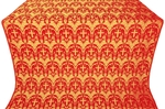 Vinograd silk (rayon brocade) (red/gold)