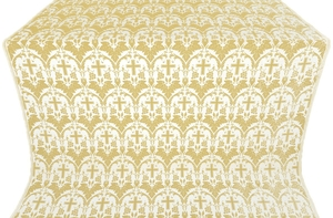 Vinograd silk (rayon brocade) (white/gold)