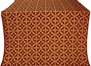 Gouslitsa metallic brocade (claret/gold)
