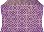 Gouslitsa metallic brocade (violet/gold)