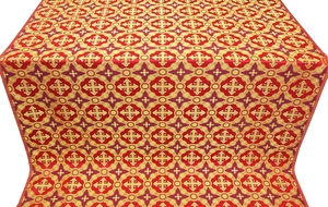 Gouslitsa metallic brocade (red/gold)