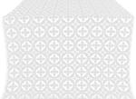 Gouslitsa metallic brocade (white/silver)