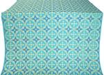 Gouslitsa silk (rayon brocade) (blue/gold)