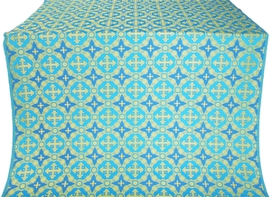 Gouslitsa silk (rayon brocade) (blue/gold)