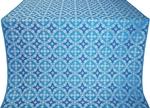 Gouslitsa silk (rayon brocade) (blue/silver)