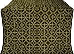 Gouslitsa silk (rayon brocade) (black/gold)