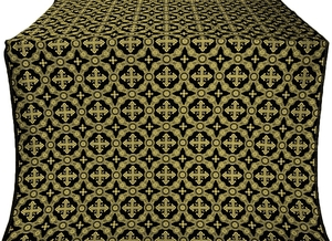 Gouslitsa silk (rayon brocade) (black/gold)