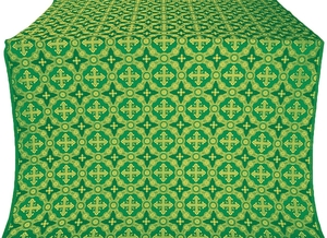 Gouslitsa silk (rayon brocade) (green/gold)