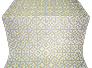 Gouslitsa silk (rayon brocade) (white/gold)