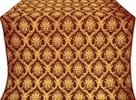 Royal Crown metallic brocade (claret/gold)