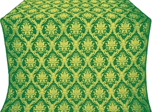 Royal Crown metallic brocade (green/gold)