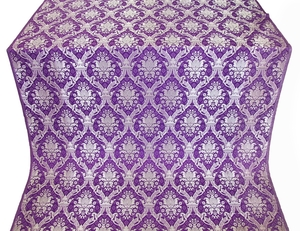 Royal Crown metallic brocade (violet/silver)