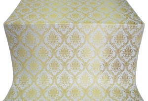 Royal Crown metallic brocade (white/gold)