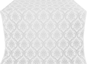 Royal Crown metallic brocade (white/silver)