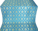 Royal Crown silk (rayon brocade) (blue/gold)
