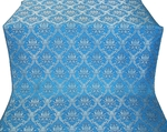 Royal Crown silk (rayon brocade) (blue/silver)