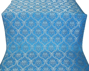 Royal Crown silk (rayon brocade) (blue/silver)
