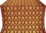 Royal Crown silk (rayon brocade) (claret/gold)