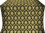Royal Crown silk (rayon brocade) (black/gold)