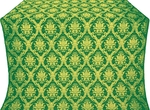 Royal Crown silk (rayon brocade) (green/gold)