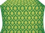 Royal Crown silk (rayon brocade) (green/gold)