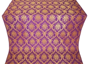 Royal Crown silk (rayon brocade) (violet/gold)