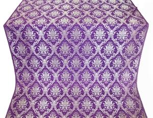 Royal Crown silk (rayon brocade) (violet/silver)