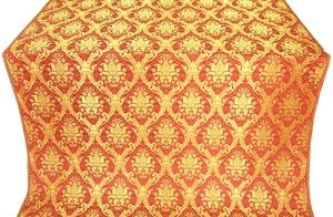 Royal Crown silk (rayon brocade) (red/gold)