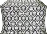 Royal Crown silk (rayon brocade) (black/silver)