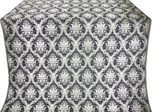 Royal Crown silk (rayon brocade) (black/silver)