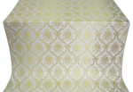 Royal Crown silk (rayon brocade) (white/gold)