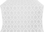 Royal Crown silk (rayon brocade) (white/silver)