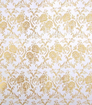 Pereslavl' metallic brocade (white/gold)