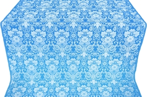 Gloksiniya metallic brocade (blue/silver)
