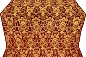 Gloksiniya metallic brocade (claret/gold)