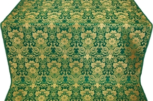 Gloksiniya metallic brocade (green/gold)