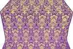Gloksiniya metallic brocade (violet/gold)